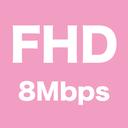 有料プラン:PC用動画 高画質 Full HD 1080p 8Mbps