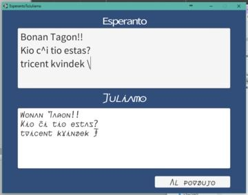 Esperanto To Juliamo