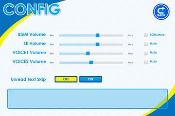 コンフィグ画面で効果音のbuf毎に音量を管理する(スライダー版)