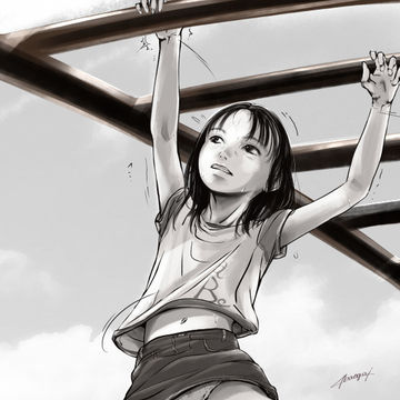 公園の女児。