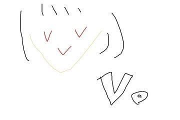 きゃらぼいす。「V。」