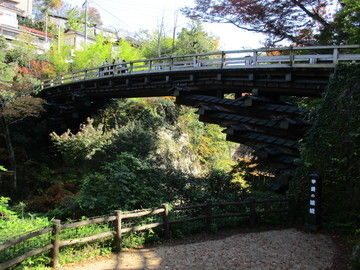 日本三奇橋のひとつ「猿橋」