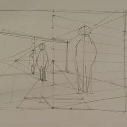 透視図法の原理 足線法 Geogebra版 湯浅誠のヘボ理屈 湯浅誠 の投稿 ファンティア Fantia