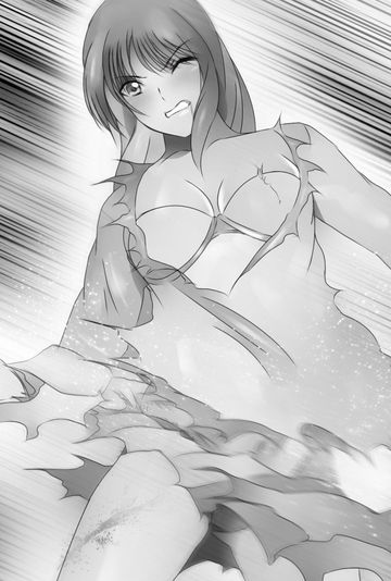 戦う黒髪少女4