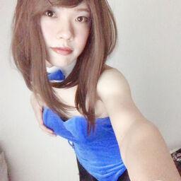 青ベロアバニースーツ