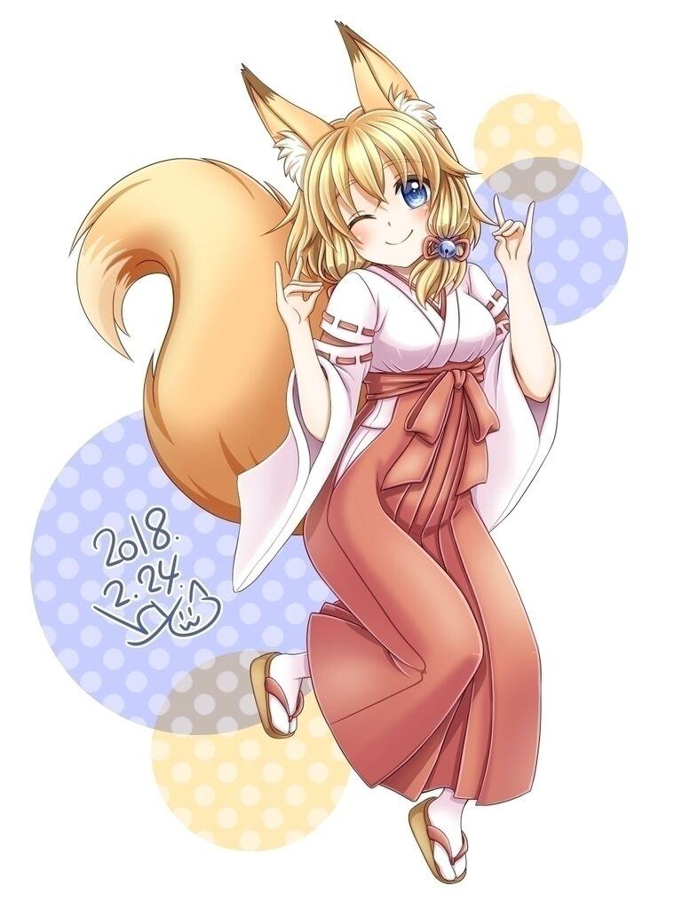 狐耳娘。(表情差分)
