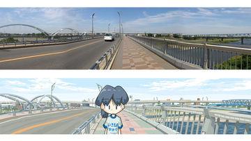 イラスト「相模大橋」(厚木市)メイキング