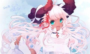 角っ子の白衣装