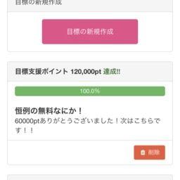 支援ポイント達成ありがとうございます!