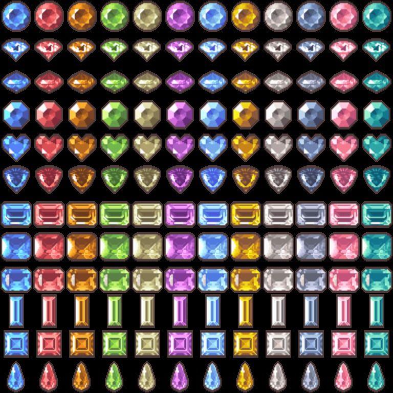 ツクールやウディタで使える無料アイコン素材・武器宝石