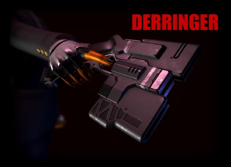 【Unity向け3Dモデル】Derringer