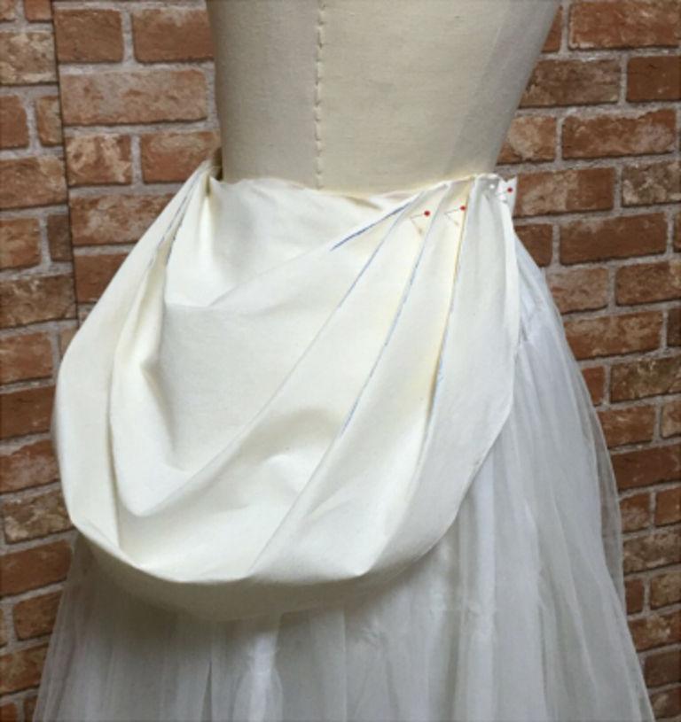 お姫様みたいなオーバースカートの型紙