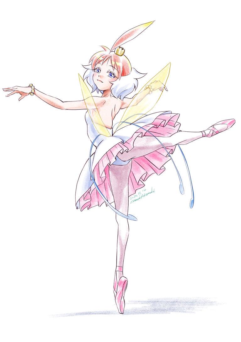 お好きなキャラでバレエ絵描きます⭐︎色鉛筆カラー