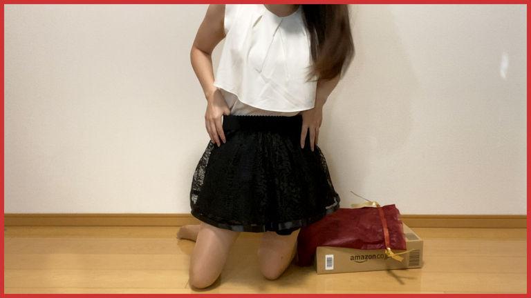 4K【試し履き】お気に入りのショートパンツでギフト開封♡可愛いスカートやつぼ押しマットなど