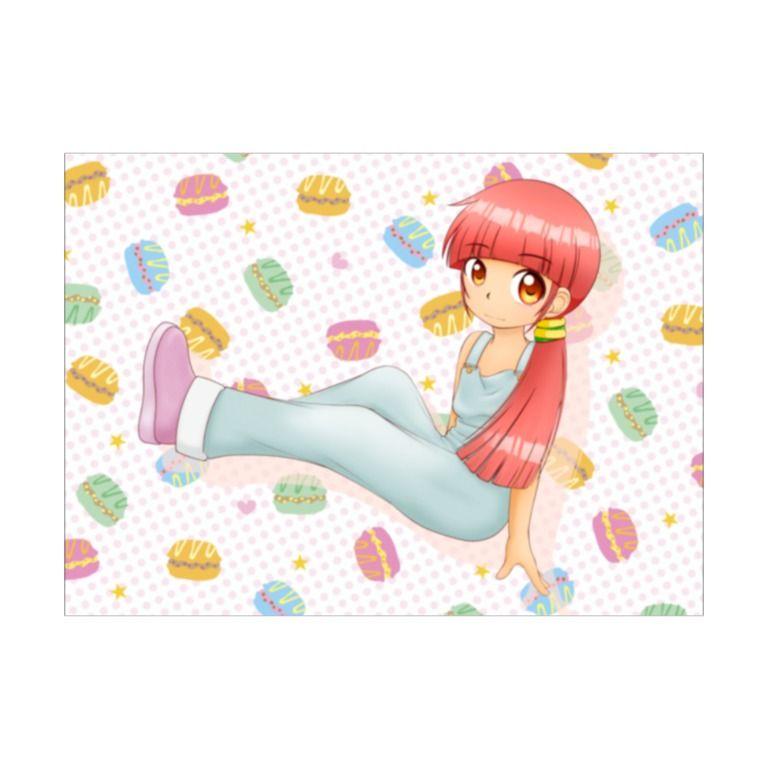 お菓子少女-ソフトタッチブランケット-