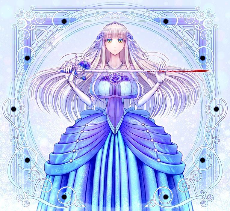 【無料】ep1-1_Art1a(ショールありVer.)高解像度イラスト【青薔薇姫のレイピア ~花に摘まれた暗殺者たち~ 】