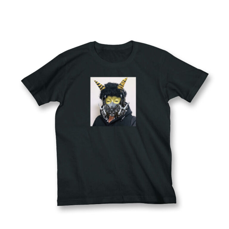 size:XL だいぶつちゃん鬼メカマスクTシャツ