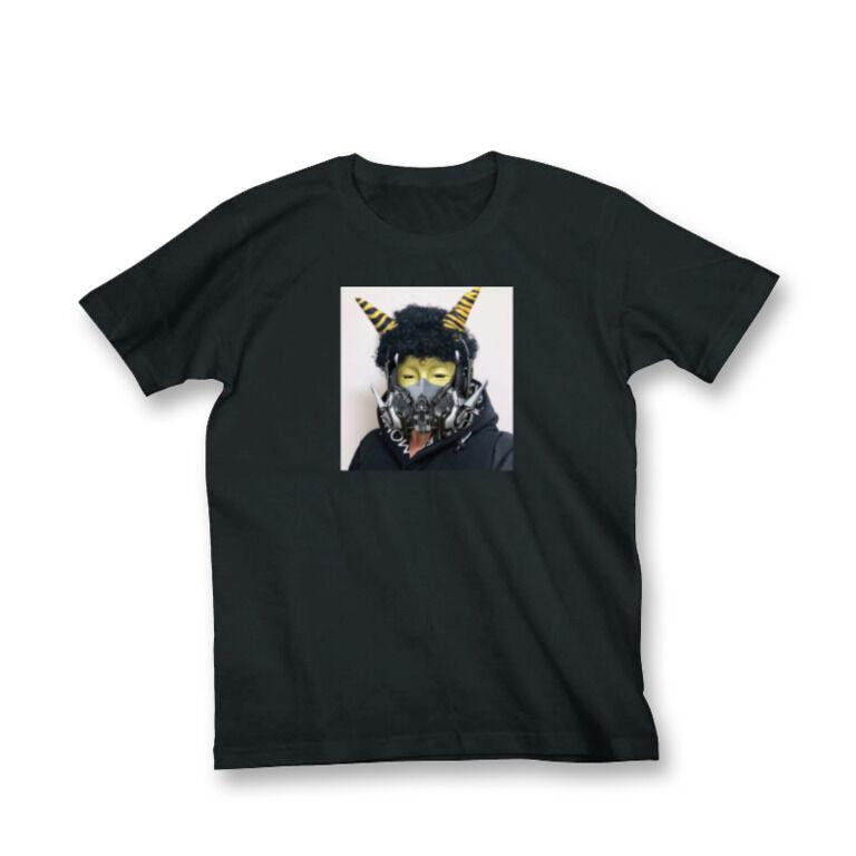 size:S だいぶつちゃん鬼メカマスクTシャツ