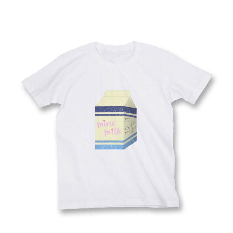 乳飲料「mirumilk」Tシャツ白(M)