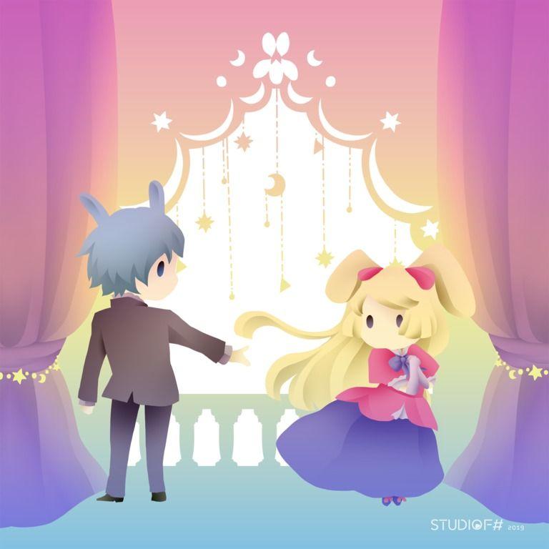 姫&ロディのタオルハンカチ