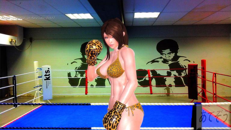 夏美とキックボクシングで対戦!