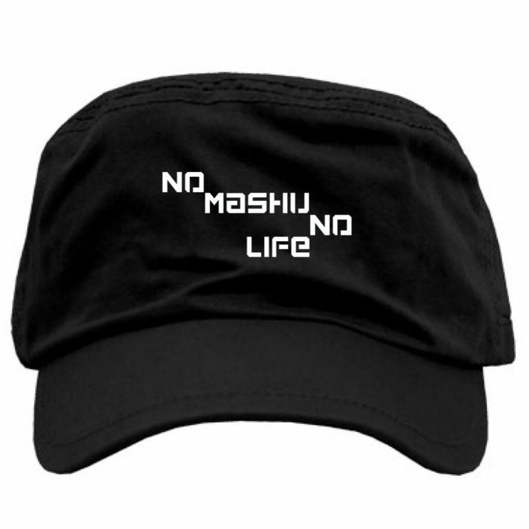 NO MASHU NO LIFアーミーキャップ黒(送料込)
