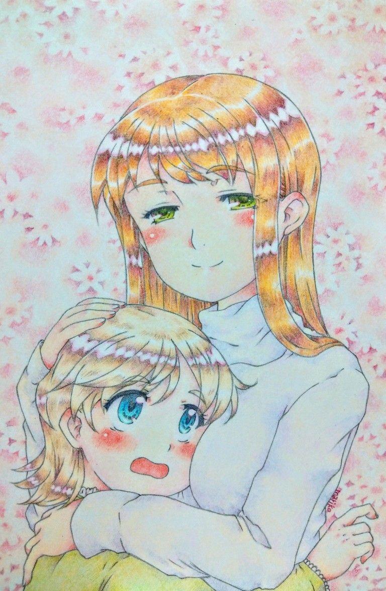 色鉛筆イラスト原画。