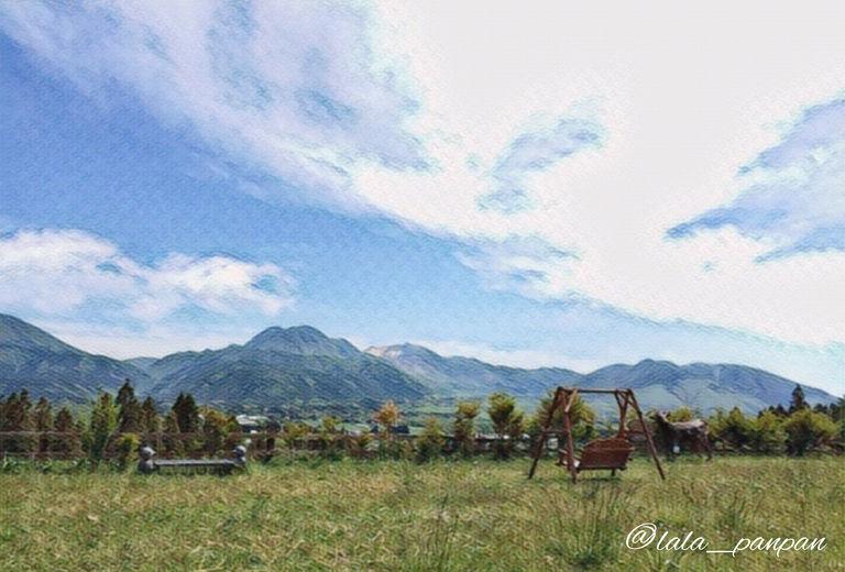 阿蘇山と高原