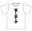 『貸し出し中』Tシャツ サイズ:Mサイズ カラー:白 【送料無料】