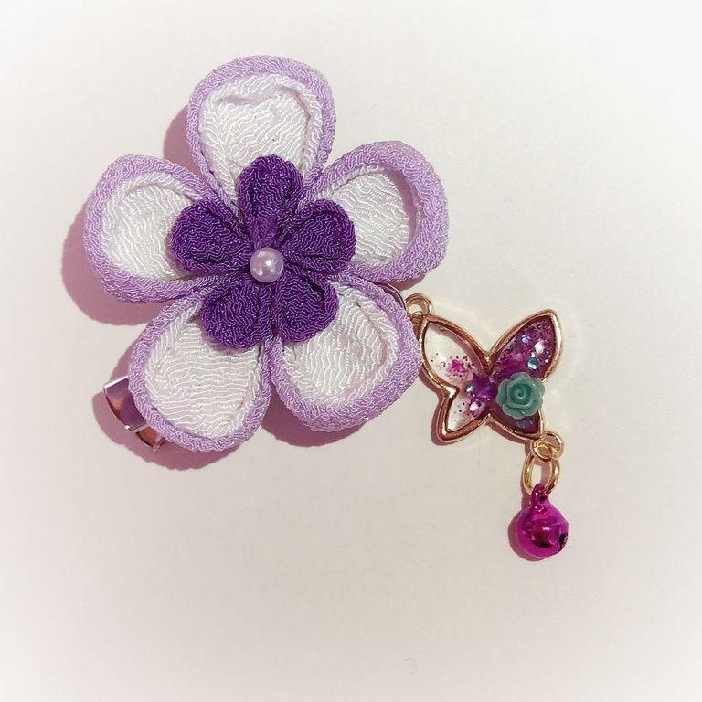 花と蝶のクリップ