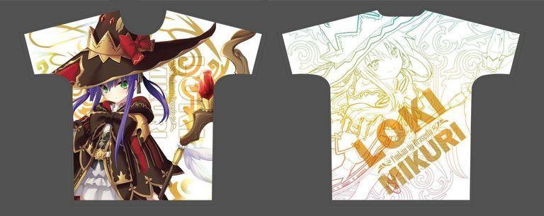 【受注限定】フルグラフィックTシャツ 封緘のグラセスタ ミクリ・ロキ Lサイズ