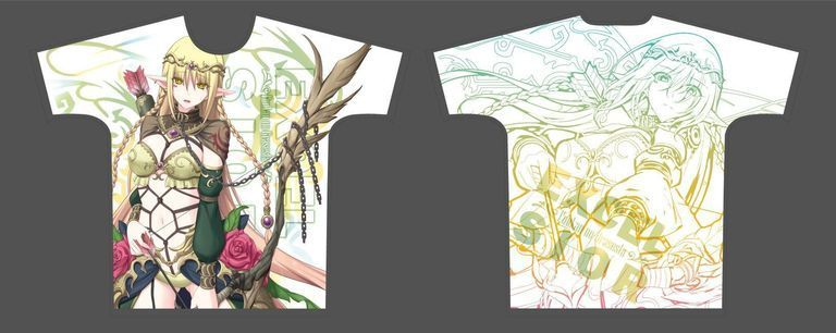 【二次受注】【受注限定】フルグラフィックTシャツ 封緘のグラセスタ エクセル・シオル Lサイズ