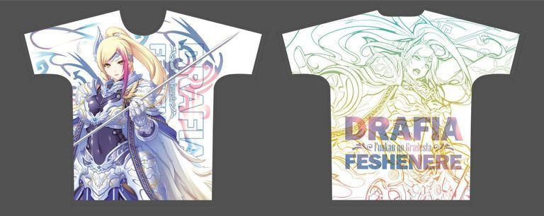 【二次受注】【受注限定】フルグラフィックTシャツ 封緘のグラセスタ ダルフィア・フェシュネール XLサイズ