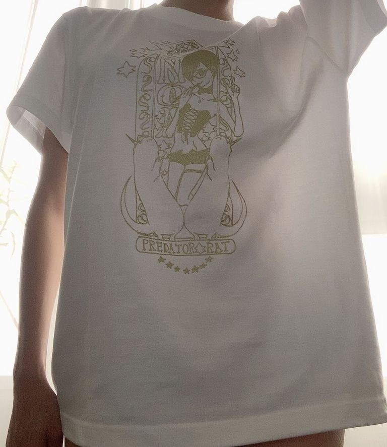 PredatorRatなゆゆデザイン乃亜様Tシャツ(ホワイトL)