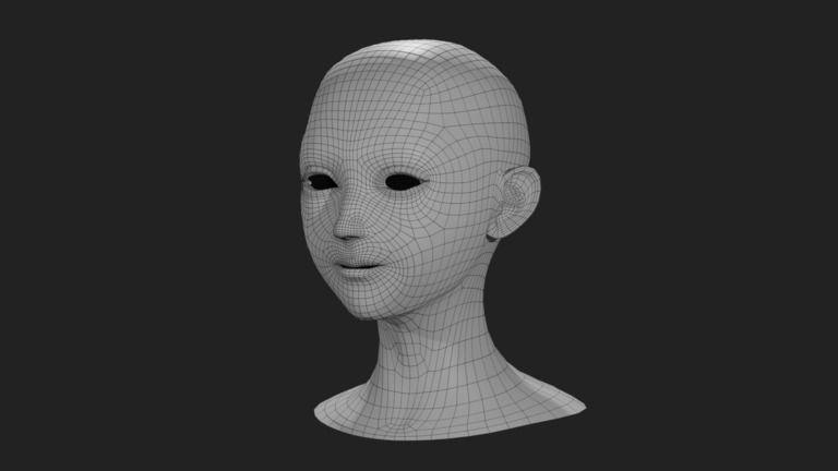 【リアル系女性キャラクターの顔の素体】