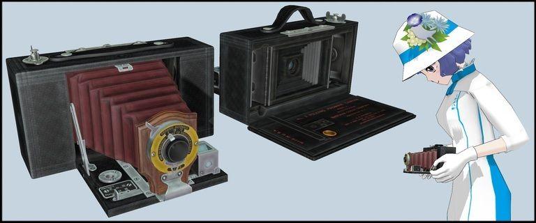 【MMDモデル配布】20世紀初頭のカメラ_V1.0