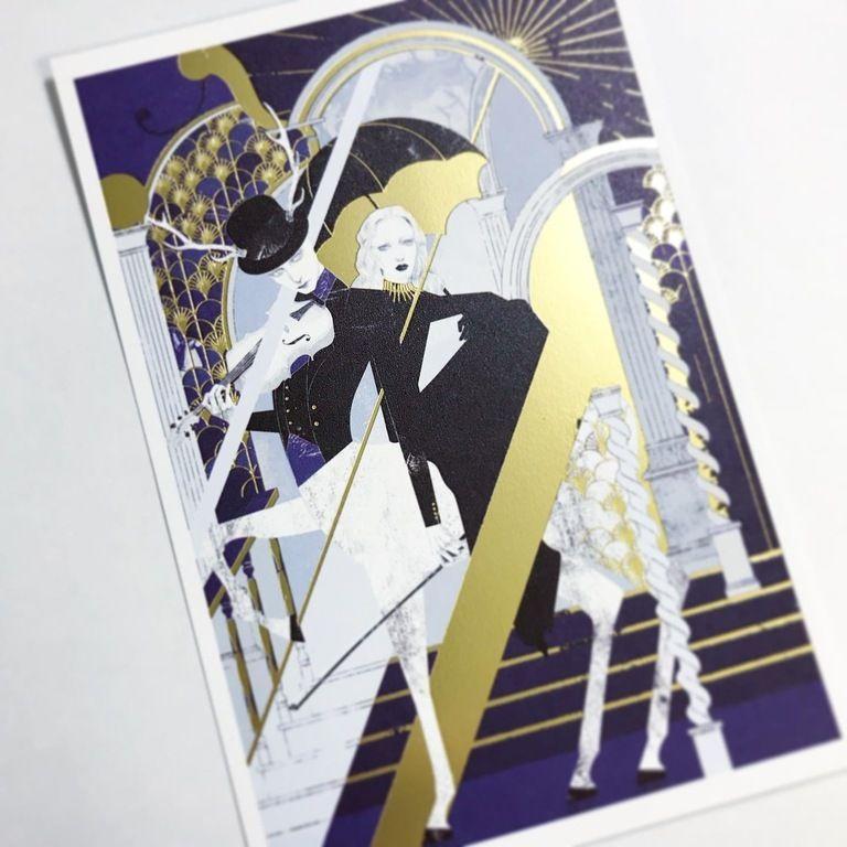 青い音楽 カード