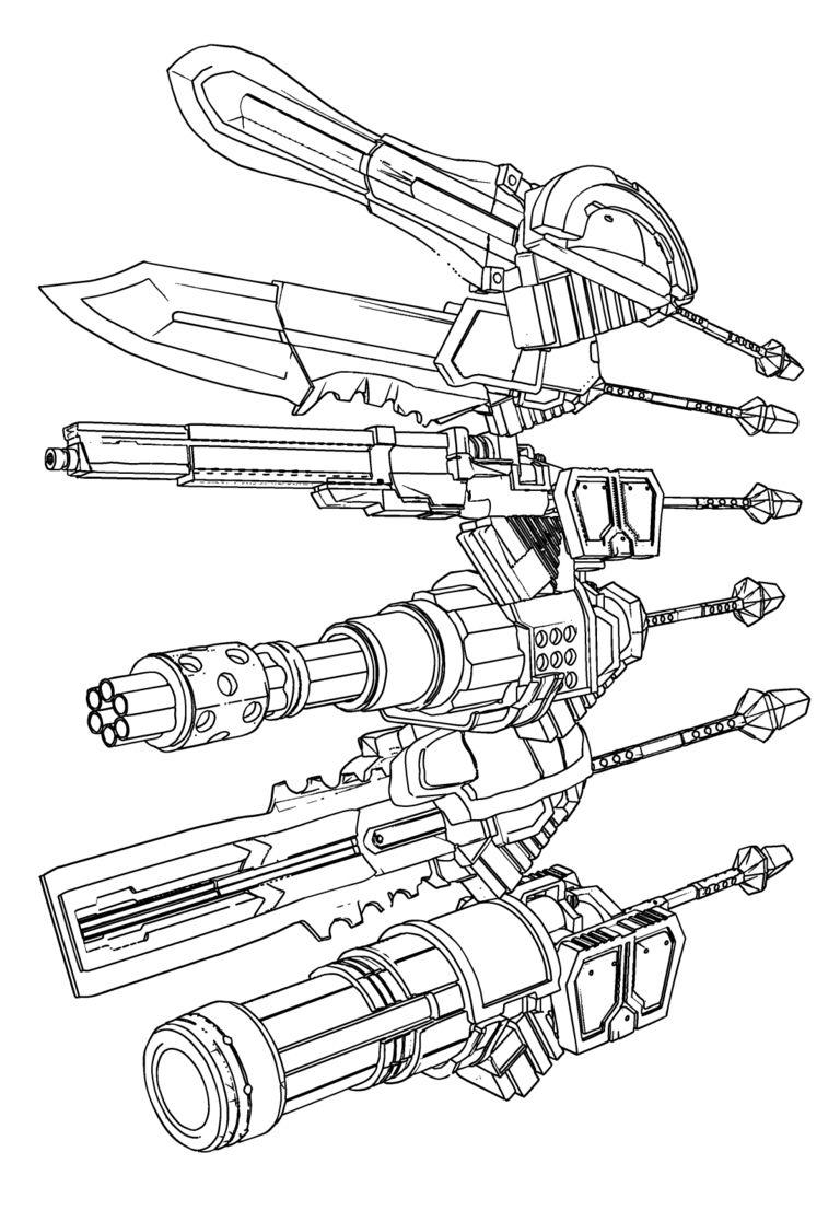 【3D素材】GE2防衛班神機6種