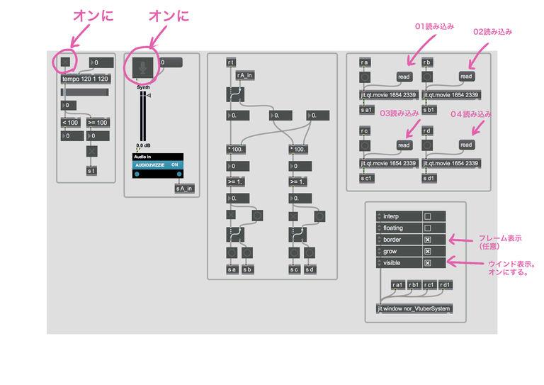 【for windows】試作型_nor式Vtuberシステム