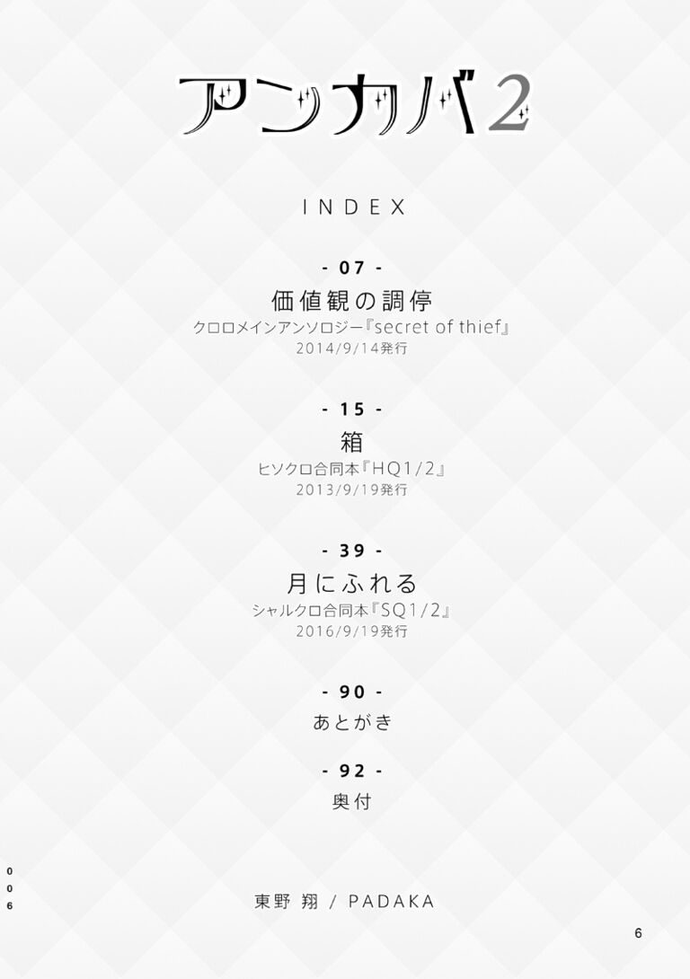「アンカバ2」アンソロ再録本