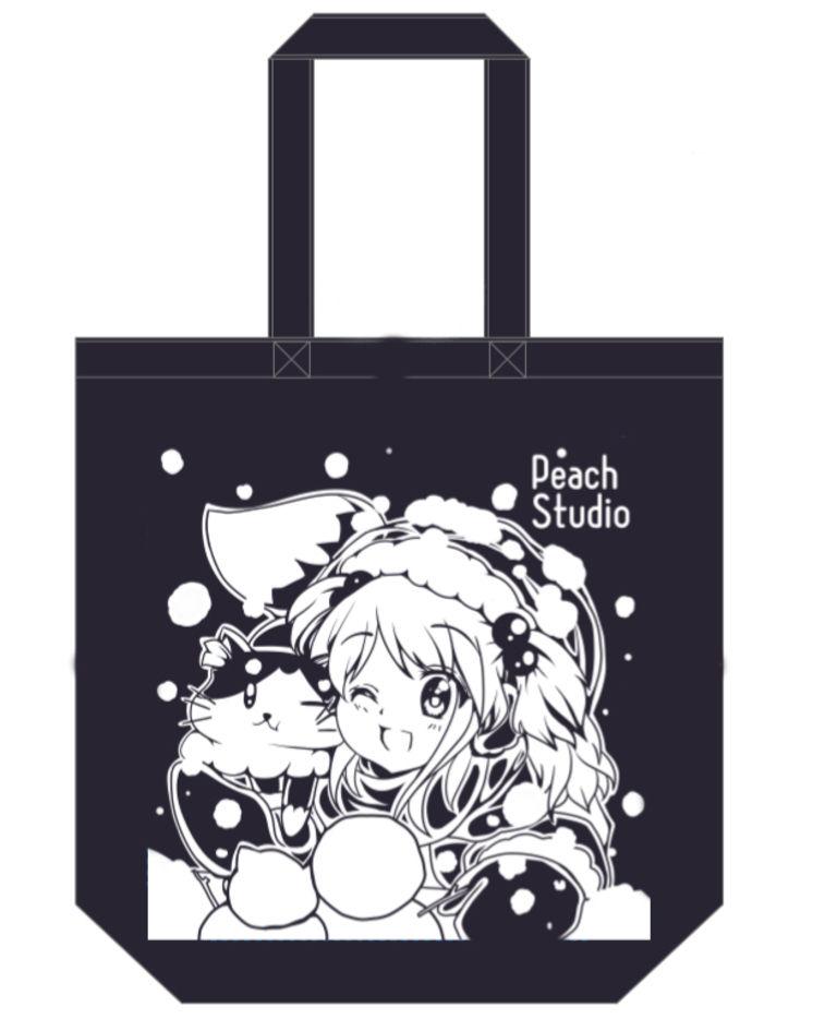 【グッズ】PeachStudioトートバッグ(紺)