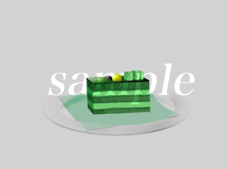 食べ物背景素材-カフェでケーキセット