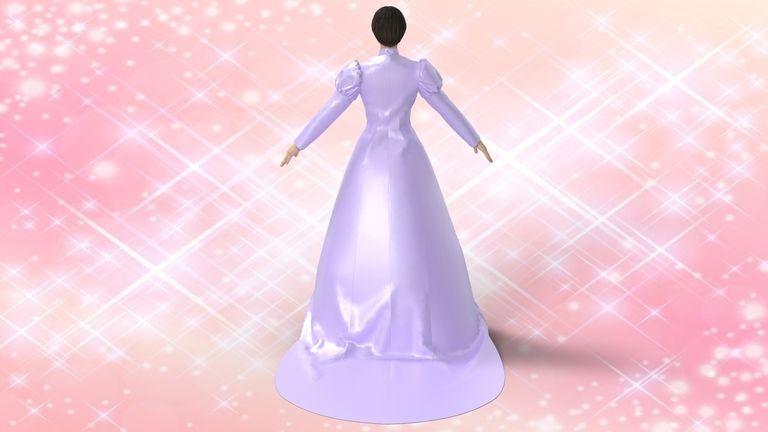 3Dの洋服データ ロングテールドレス