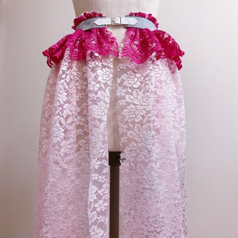 レースペプラムスカート
