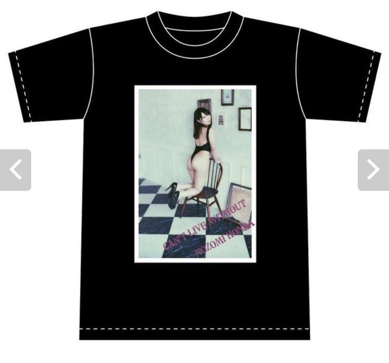本多希オリジナルTシャツ 限定販売品 オリジナル写真orチェキ付き