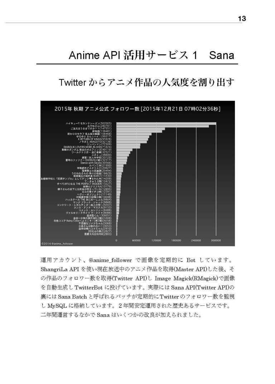 【PDF】ShangriLa Anime APIを使ったアニメ関連データ解析 実践と詳細