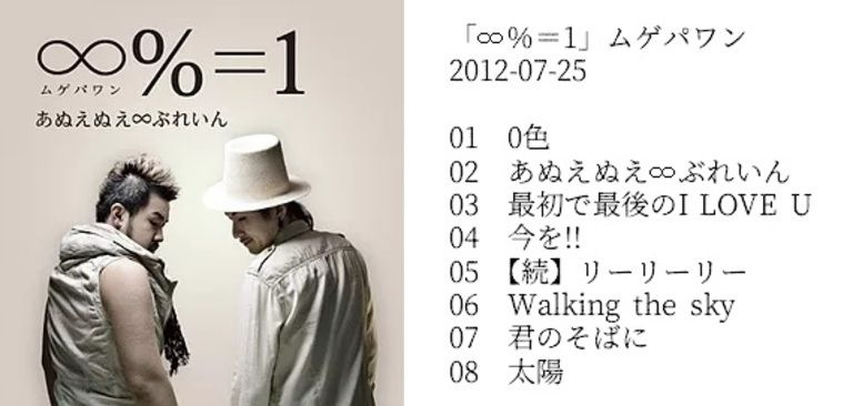 『∞%=1』ムゲパワン / あぬえぬえ∞ぶれいん 【CDのみ】