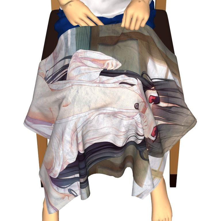 ソフトタッチブランケット_ハチロク_裸ワイシャツ