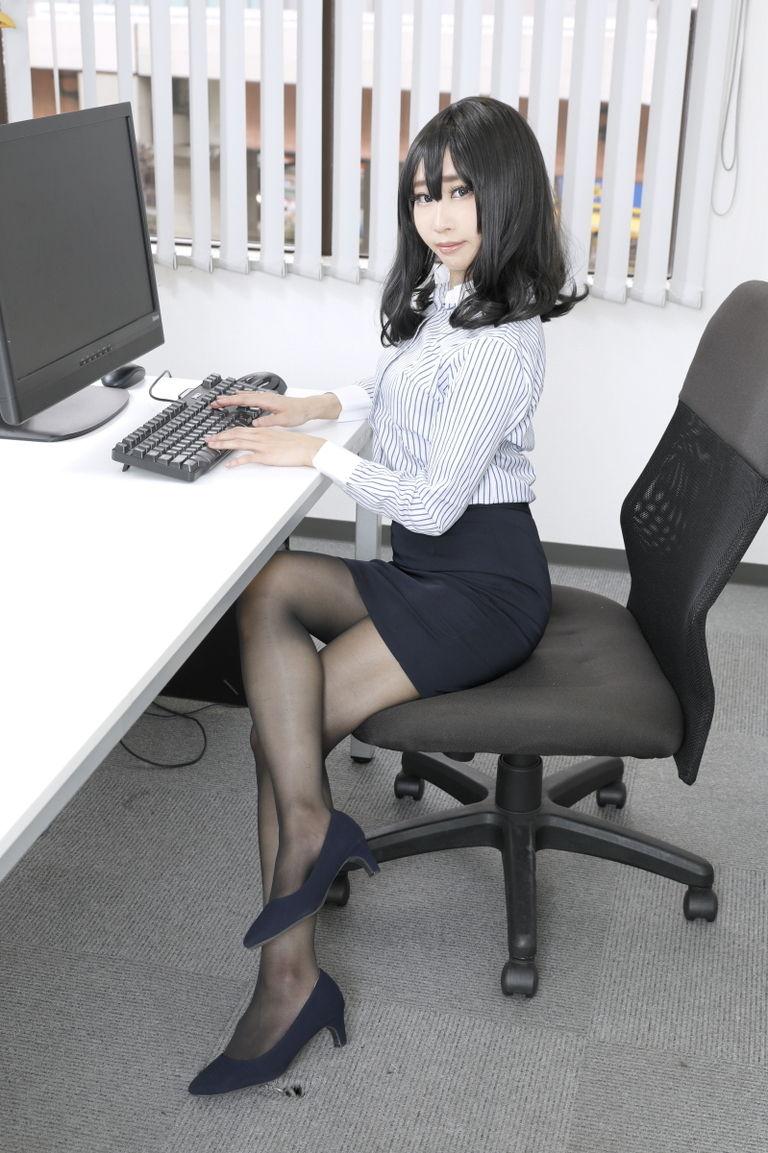 妄想オフィス(OLストッキング)
