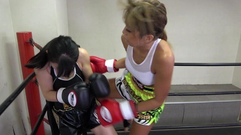 悶絶キックボクシング001 川崎優vs神崎まゆみ Agony Kickboxing 001 Yu Kawasaki vs Mayumi Kanzaki